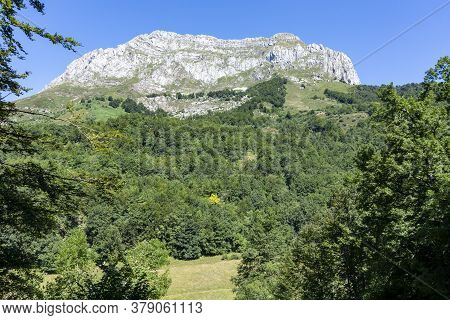 View Of The Mountain Of Sajambre In Picos De Europa In Leon Spain