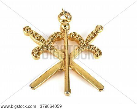 Object Of Masonry In Front Of White Background