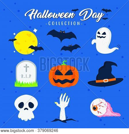 Scary And Creepy Halloween Day Theme Vector Design Collection Can Be Use To Make Poster