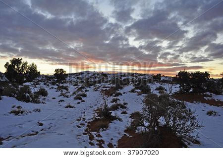 Desert Sunset in Winter