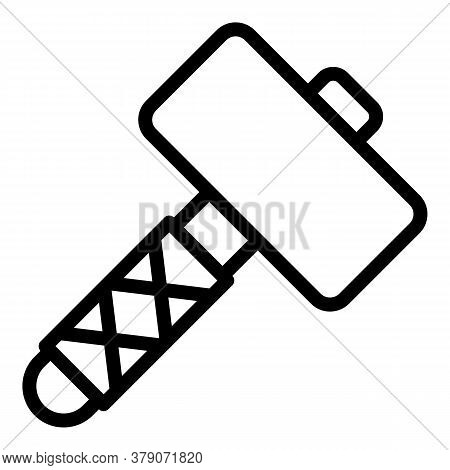 Sledgehammer Icon. Outline Sledgehammer Vector Icon For Web Design Isolated On White Background