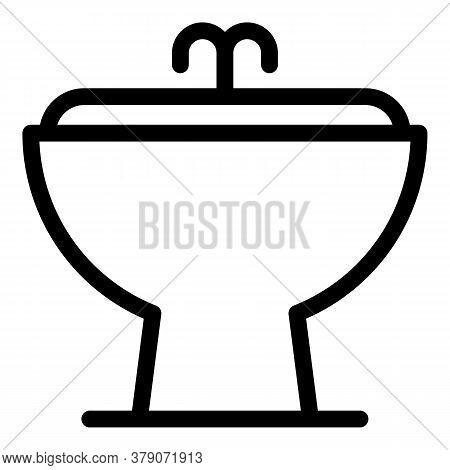 Ceramic Bidet Icon. Outline Ceramic Bidet Vector Icon For Web Design Isolated On White Background