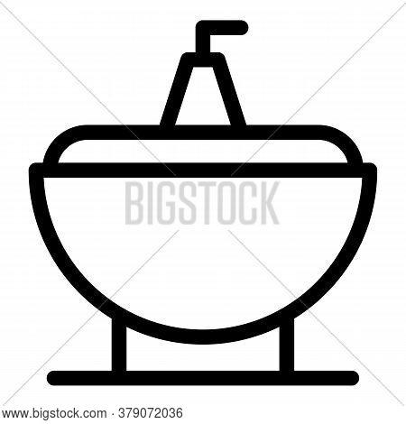 Bath Bidet Icon. Outline Bath Bidet Vector Icon For Web Design Isolated On White Background