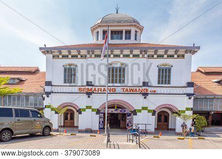 Semarang, Indonesia - October, 31, 2017 Station Tawang In Semarang West Java Indonesia