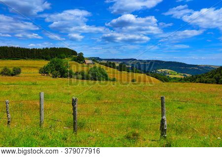 Cantal of landscape in countryside France