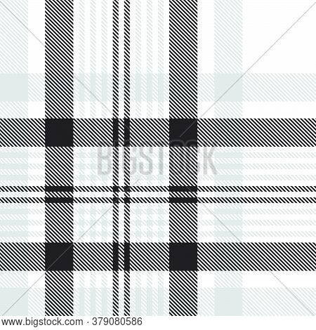 Black And White Glen Plaid Textured Seamless Pattern