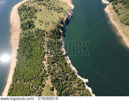 Aerial View Of Arda River Meanders And Kardzhali Reservoir, Bulgaria