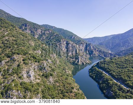 Aerial View Of Krichim Reservoir, Rhodopes Mountain, Plovdiv Region, Bulgaria