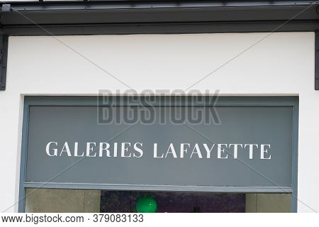 Bordeaux , Aquitaine / France - 07 28 2020 : Galeries Lafayette Logo And Text Sign Upmarket French D