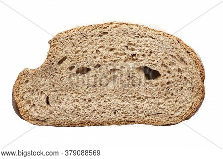 Sliced Slice Of Bread Isolated On White Background. File Contains Clipping Path