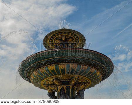 Fountain On The Place De La Concorde Paris
