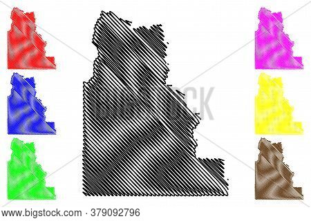 Camas County, Idaho (u.s. County, United States Of America, Usa, U.s., Us) Map Vector Illustration,