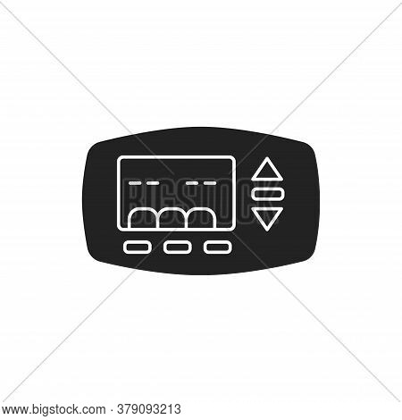 Thermostat For Heating A House Black Glyph Icon On White Background. Maintaining Heat In The House.