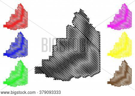 Fremont County, Idaho (u.s. County, United States Of America, Usa, U.s., Us) Map Vector Illustration