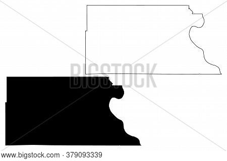 Atchison County, Kansas (u.s. County, United States Of America, Usa, U.s., Us) Map Vector Illustrati