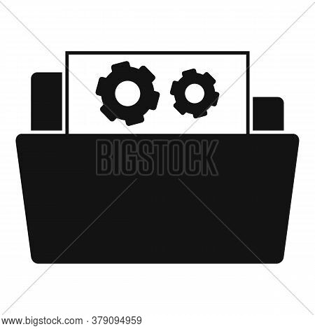 Secret Folder Innovation Icon. Simple Illustration Of Secret Folder Innovation Vector Icon For Web D