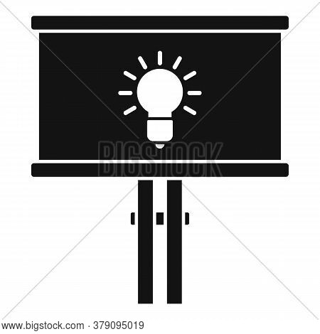 Street Billboard Innovation Icon. Simple Illustration Of Street Billboard Innovation Vector Icon For