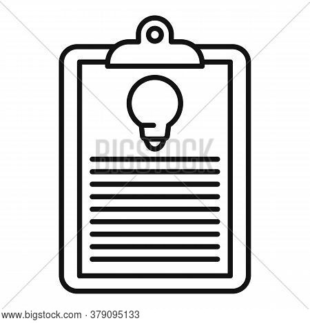 Innovation Clipboard Icon. Outline Innovation Clipboard Vector Icon For Web Design Isolated On White