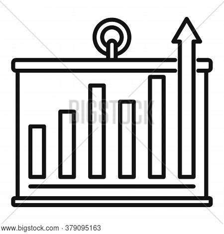Banner Graph Innovation Icon. Outline Banner Graph Innovation Vector Icon For Web Design Isolated On