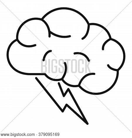 Brain Innovation Idea Icon. Outline Brain Innovation Idea Vector Icon For Web Design Isolated On Whi