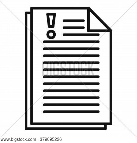 Company Paper Innovation Icon. Outline Company Paper Innovation Vector Icon For Web Design Isolated