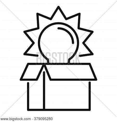 Unboxed Idea Innovation Icon. Outline Unboxed Idea Innovation Vector Icon For Web Design Isolated On