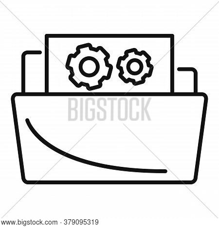 Secret Folder Innovation Icon. Outline Secret Folder Innovation Vector Icon For Web Design Isolated
