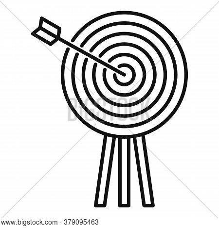 Innovation Target Icon. Outline Innovation Target Vector Icon For Web Design Isolated On White Backg