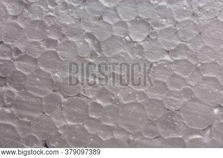 Texture Of Large White Styrofoam, Top View Closeup