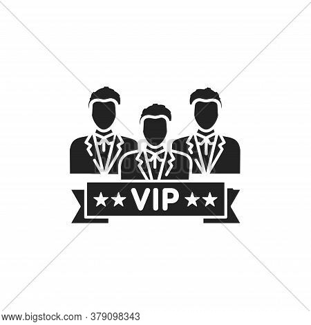 Vip Club Glyph Black Icon. Exclusive Membership. Sign For Web Page, Mobile App, Button, Logo. Vector