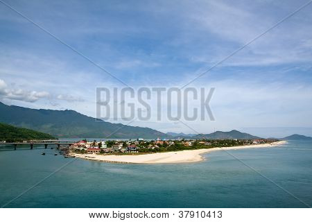 Landscape With Mountains And Clouds Lang Co Bay (thua Thien Hue, Vietnam)