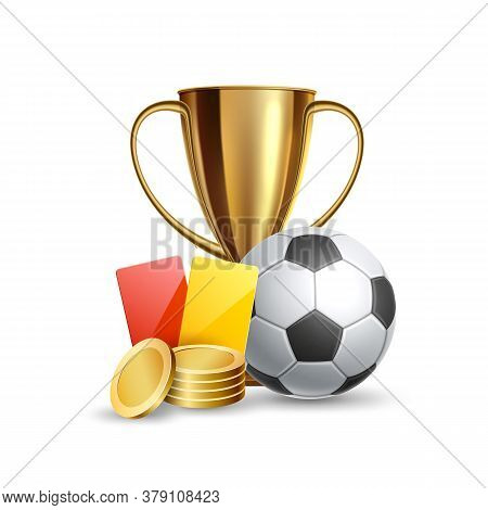 Vector Realistic Online Sports Betting Trophy Ball