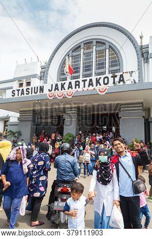 Jakarta, Indonesia - October, 28, 2017 Entrance Of The Jakarta Kota Station, Jakarta Indonesia