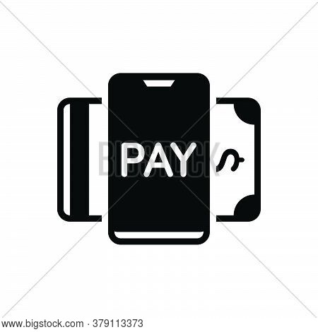 Black Solid Icon For Payment-method Payment Method Cash Currency Check Credit Online Transaction Ele