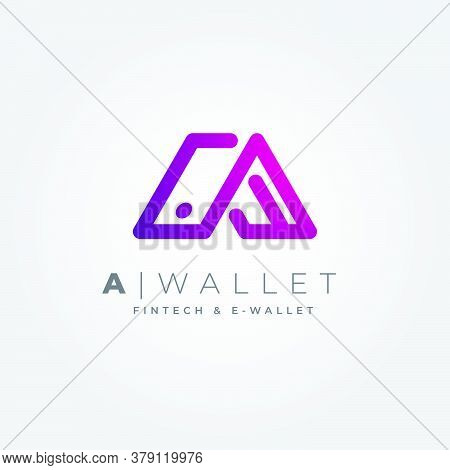 Modern, Technology And Clean Logo, A Combination Of The Letter A And The Shape Of A Wallet. For Mode
