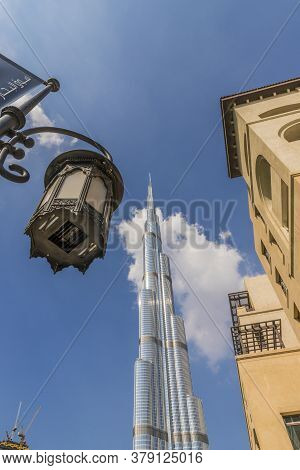 November 2019. Dubai Uae. The Burj Khalifa Skyscraper Building In Dubai Uae
