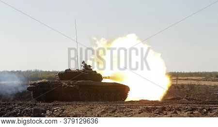 The Main Battle Tank Of The Russian Army T-72.the Main Battle Tank Of The Russian Army T-72. The Leg