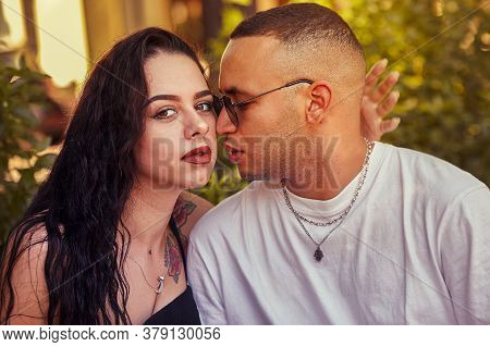 Interracial Young Couple In Love 12
