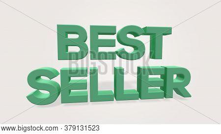 3d Render Best Seller Word Use For Landing Page, Template, Ui, Web, Poster, Banner, Flyer, Backgroun