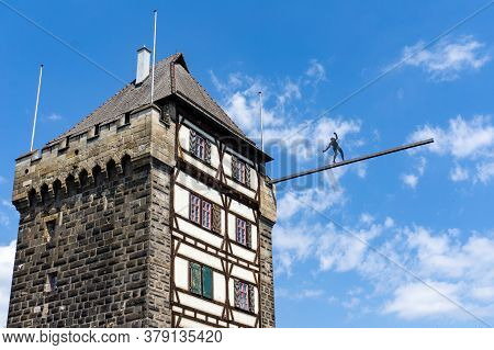 View Of The Schelztor Gate Tower In Esslingen Am Neckar