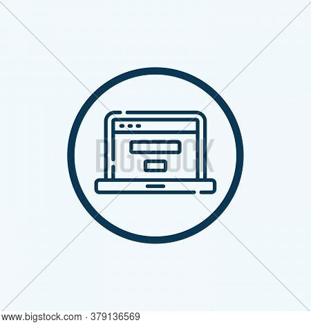 Website Icon Isolated On White Background From Web Development Collection. Website Icon Trendy And M