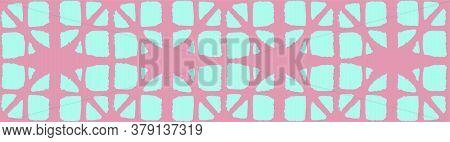 Japanese Tie Dye Seamless Pattern. Bohemian Kimono Textile. Geometric Bohemian Asian Tie Dye Print.