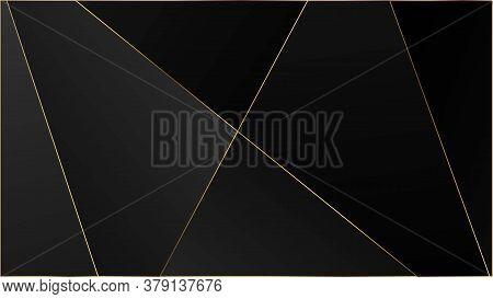 Black Luxury Triangular Texture. Silver Vip Rich Geometric Celebration Background. Elegant Dark Plat