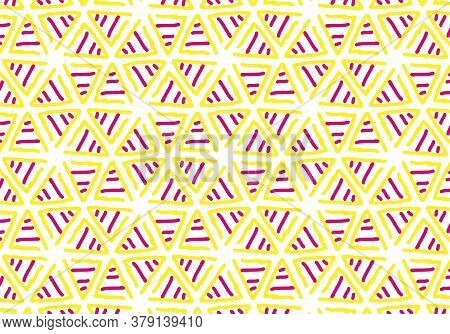 Abstract Background Pattern. Hand-drawn Abstraction Geometry Illustration