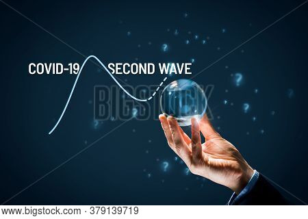 Investor Foretell If There Will Be The Second Wave Of Covid-19 Concept. Post-covid-19 Era Prediction