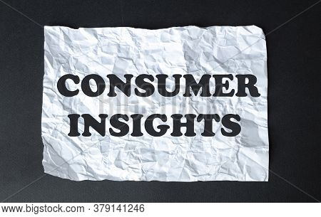 Black Calculator With Text Consumer Insights On The White Background