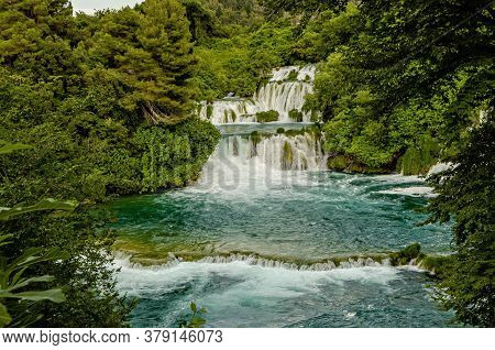 Krka River Waterfalls In The Krka National Park, Croatia