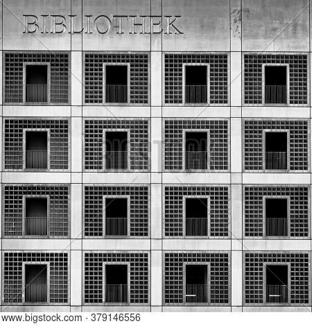Stuttgart, Bw / Germany - 22 July 2020: Exterior View Of The Municipal Library In Stuttgart