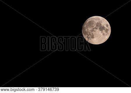 Beautiful Full Moon Of August, August's Sturgeon Supermoon In A Summer Night