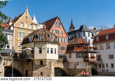View Of The Historic Old City Center Of Esslingen On The Neckar